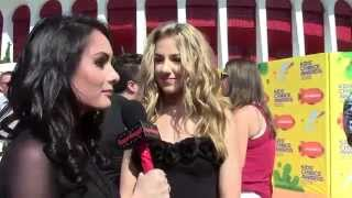 """Dance Moms"" Chloe Lukasiak Interview - Alexisjoyvipaccess - Nickelodeon Kids Choice Awards"