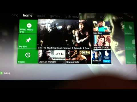 Xbox 360- how to play disks that say mixed media player.