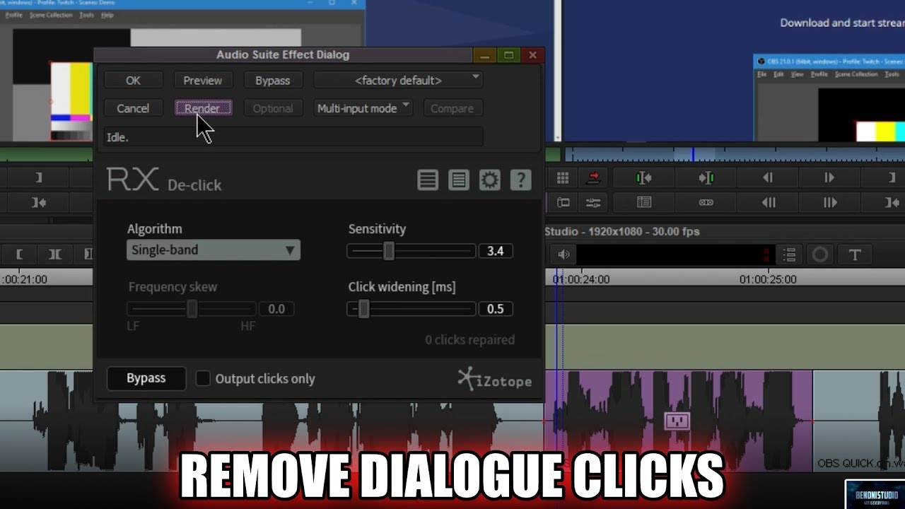 iZotope RX6 De-Click | Remove Dialogue Clicks in Media Composer