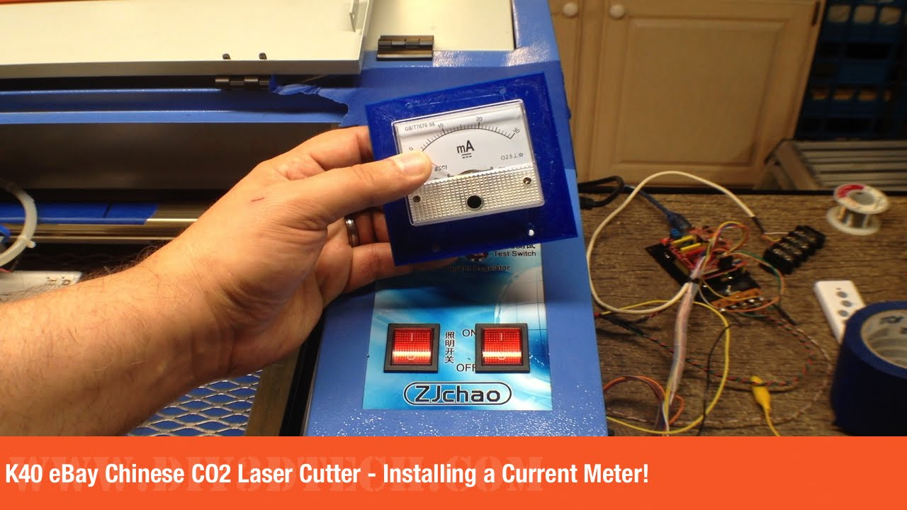 K40 eBay Chinese CO2 Laser Cutter - Installing a Current Meter!
