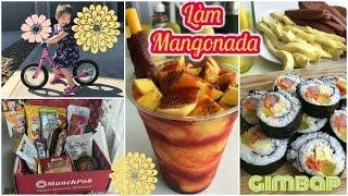 Cuối tuần làm cơm cuộn Hàn Quốc ♥ Sinh tố xoài Mangonada của Mexico♥Unboxing Munchpak mattalehang