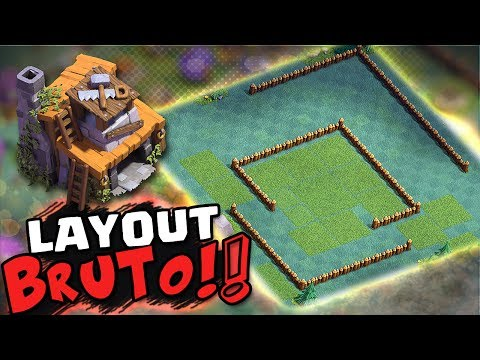 LAYOUT BRUTO!! CC4 DA BASE DO CONSTRUTOR + REPLAYS - CLASH OF CLANS