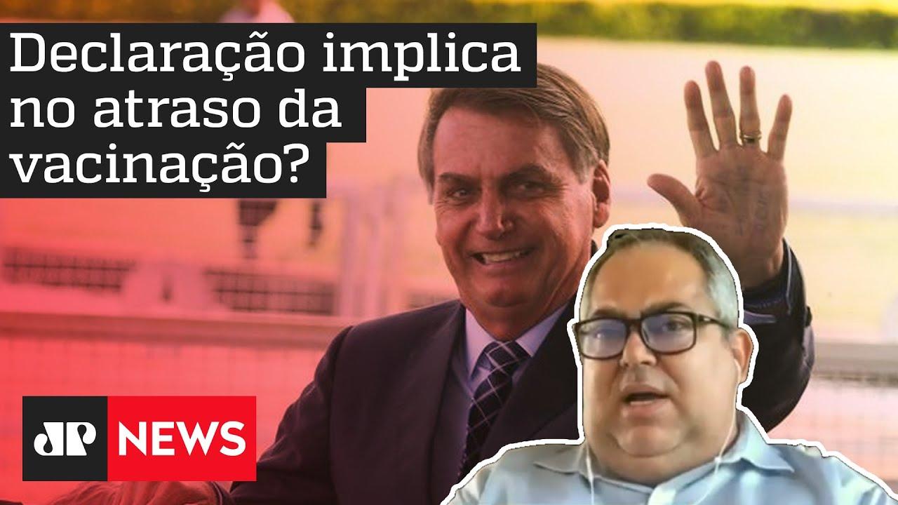 'Frase de Bolsonaro sobre a China não traz consequência imediata, mas cria risco ao Brasil'