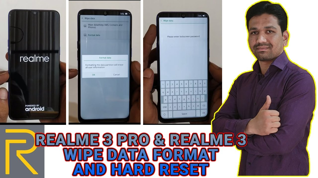 Realme 3 Pro and Realme 3 Format and Hard Reset | Factory Reset