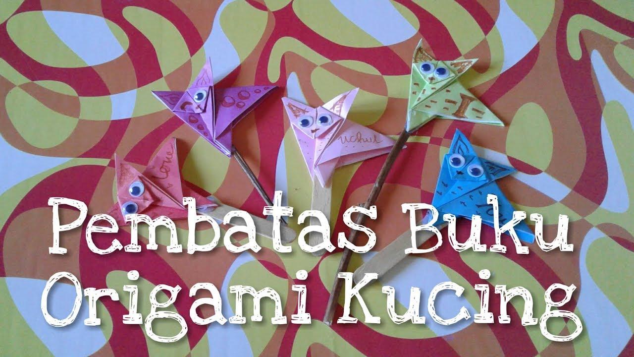 Diy Pembatas Buku Origami Kucing
