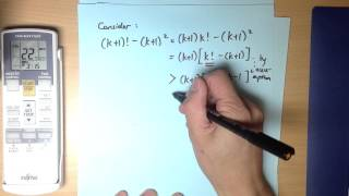 Induction Inequality Proof Example 4: n! greater than n²