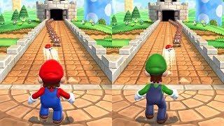 Mario Party 9 - Toad Road - Mario VS Luigi