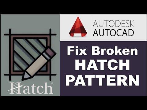 How To Autocad Broken Hatch Fix - YouTube
