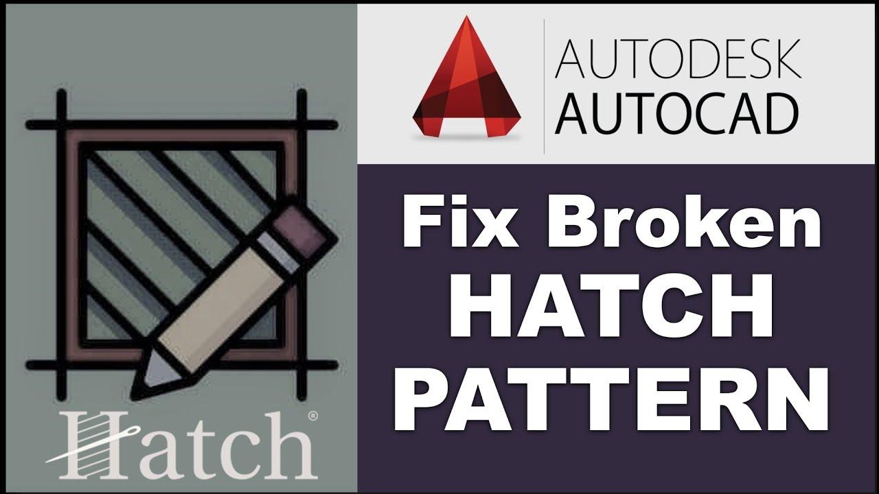 How To Autocad Broken Hatch Fix
