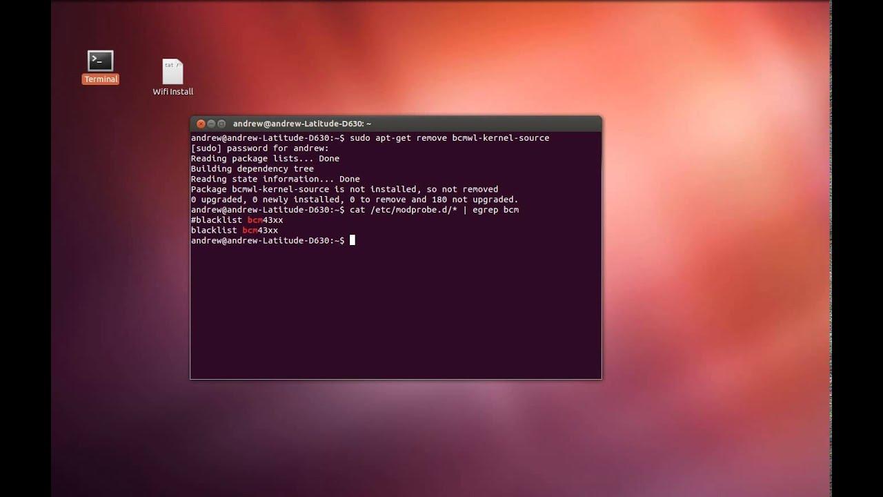 Broadcom wifi drivers in ubuntu 12. 04 live youtube.