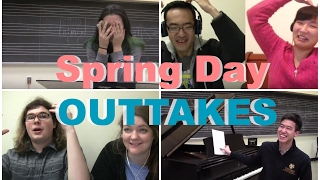 [OUTTAKES/BLOOPERS] Classical Musicians react: BTS Spring Day