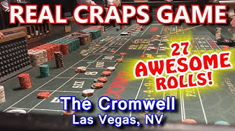 AMAZING 27 ROLLS! - Live Craps Game #41 - The Cromwell, Las Vegas, NV - Inside the Casino