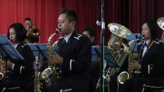 2018年11月3日の入間基地航空祭の航空自衛隊中部航空音楽隊の演奏会で演...