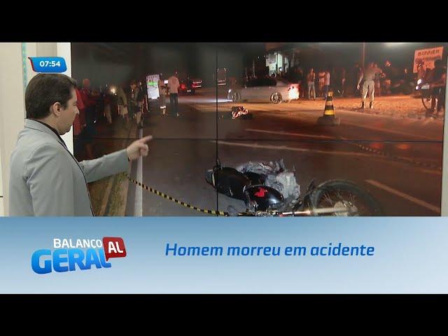 Homem morreu em acidente envolvendo duas motos e um caminhão na BR-104