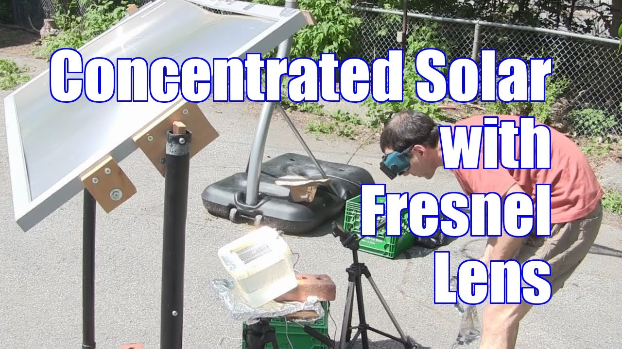 Concentrated Solar Cell Test With Fresnel Lens Youtube