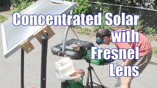Concentrated Solar Cell Test with Fresnel Lens