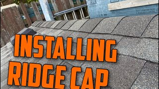 How To  Nstall Roofing Ridge Cap The Right Way