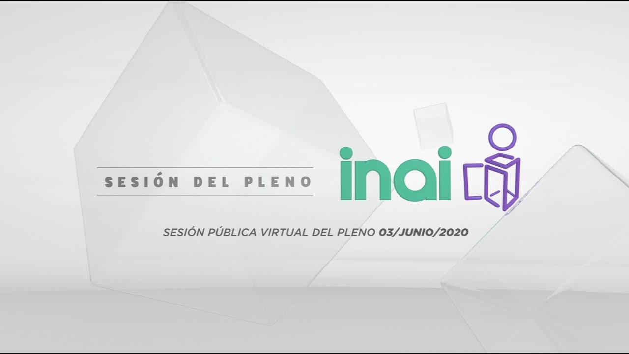 Sesión Pública Virtual del 3 de junio de 2020