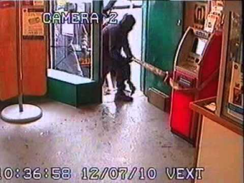 Bungled cash machine robbery