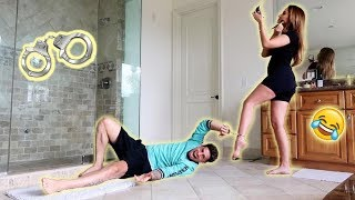 24 HOUR HANDCUFF CHALLENGE WITH PREGNANT WIFE!!! (HILARIOUS) thumbnail
