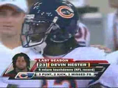 DEvin hester vs Colts in Preseason