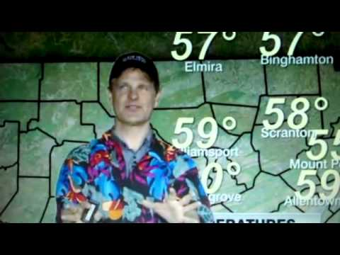 Crazy WNEP Weather Man Joe Snedeker collapses on air.