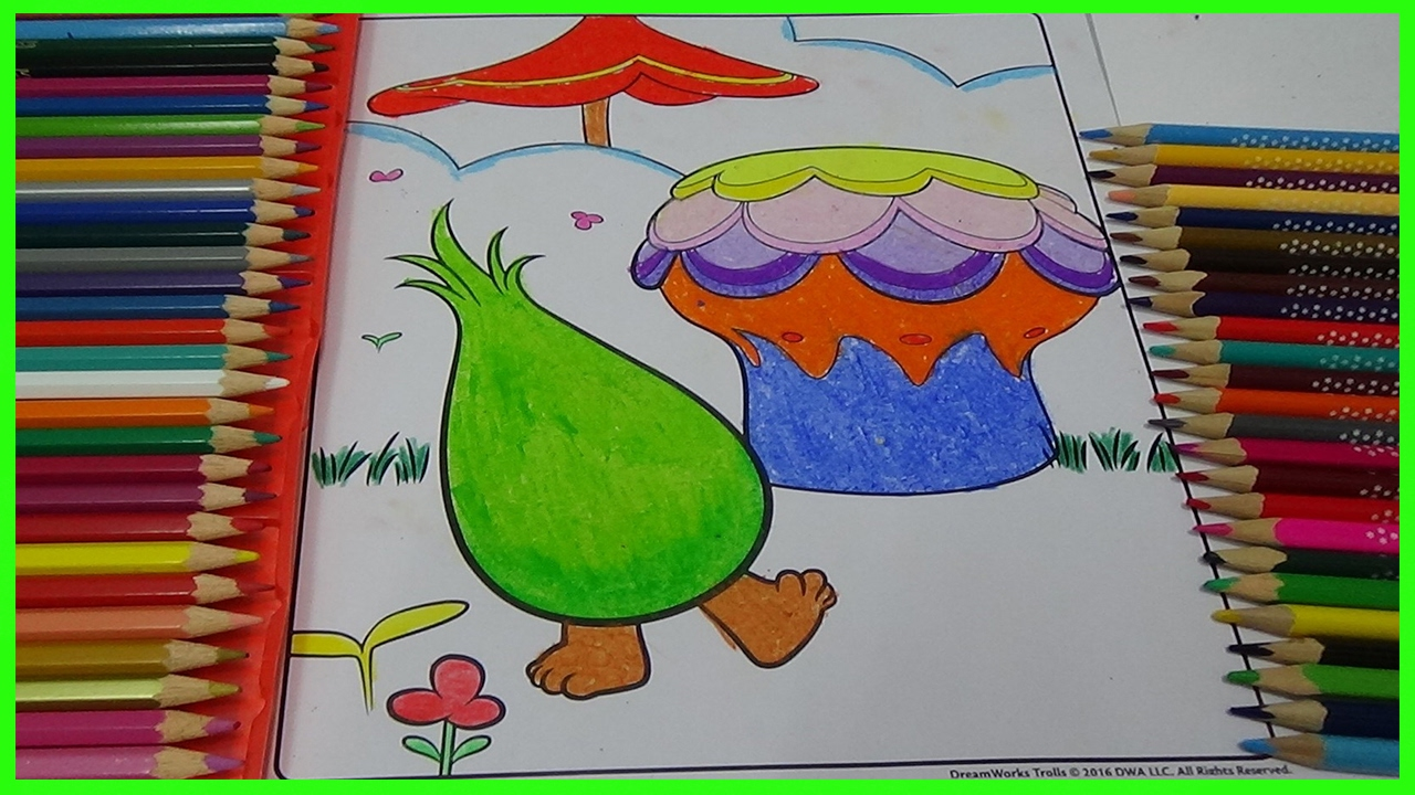 Trolls fuzzbert colouring pages coloring video to learn for Fuzzbert coloring pages