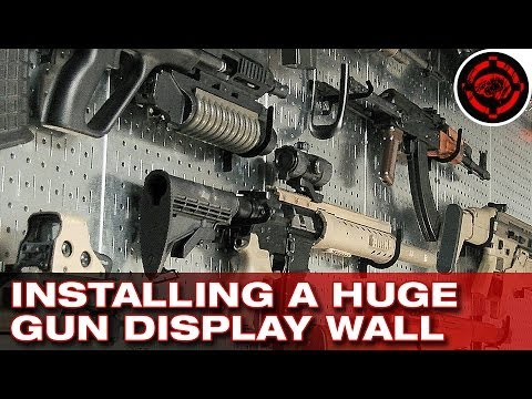 Installing A Huge Gun Display Wall Youtube