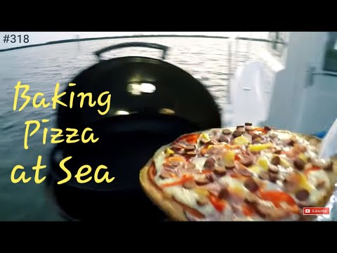 Baking Pizza at Sea Magma Marine Kettle 3 Magma Grill Crooked PilotHouse boat