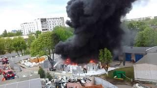 Fire. Horror and pain! fear (Пожар на ул. Славинского  в Минске! Кошмар!)