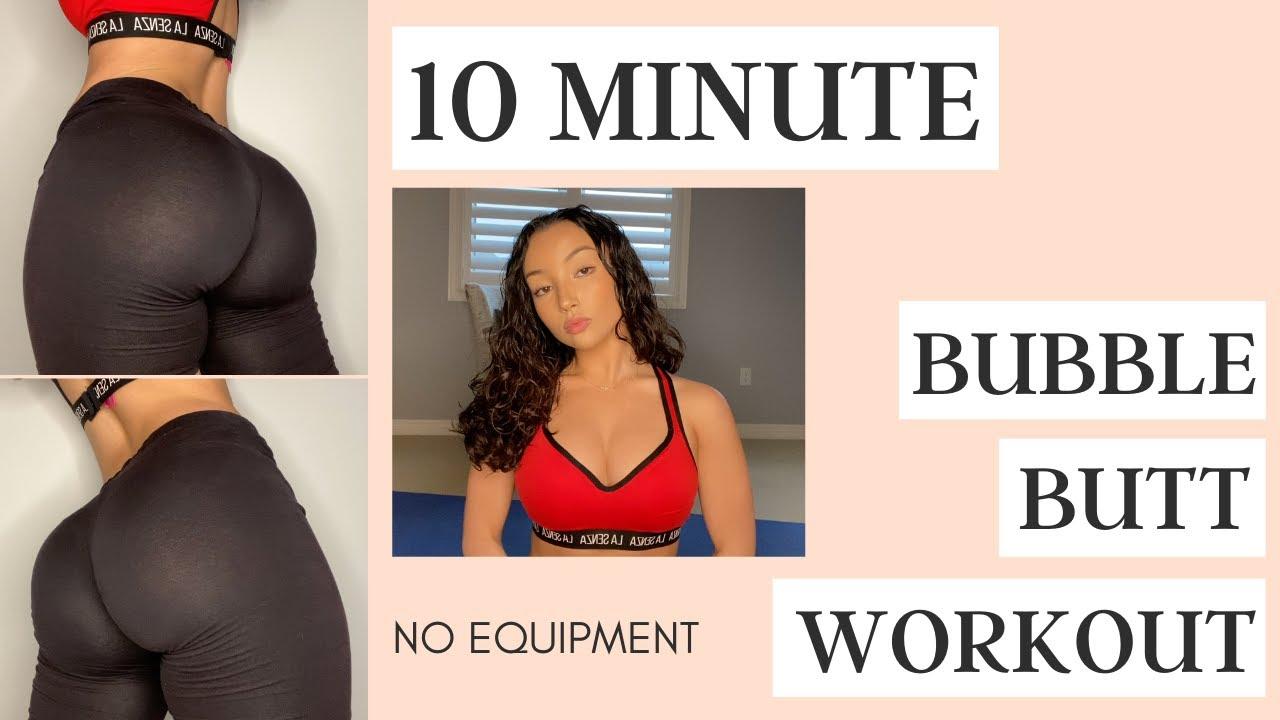 10 MINUTE BUBBLE BUTT WORKOUT | follow along | no equipment