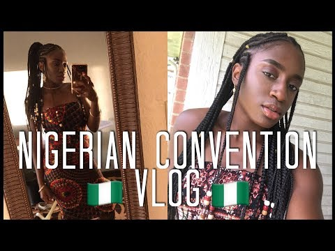 NIGERIAN CONVENTION 🇳🇬 & FULANI BRAIDS | TRAVEL VLOG