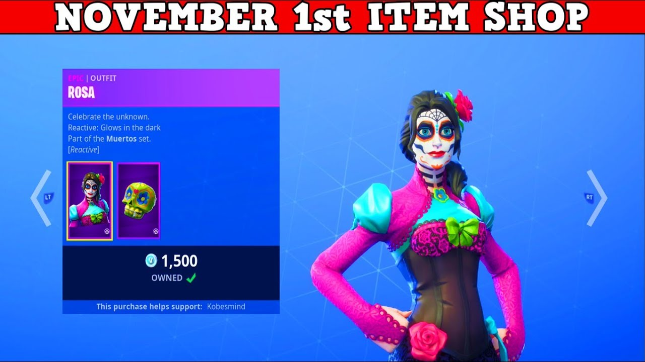 Fortnite item shop november 1st new rosa dante - Fortnite dante ...
