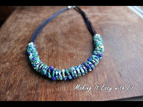 ethnic-inspired-beaded-wire-and-leather-necklace