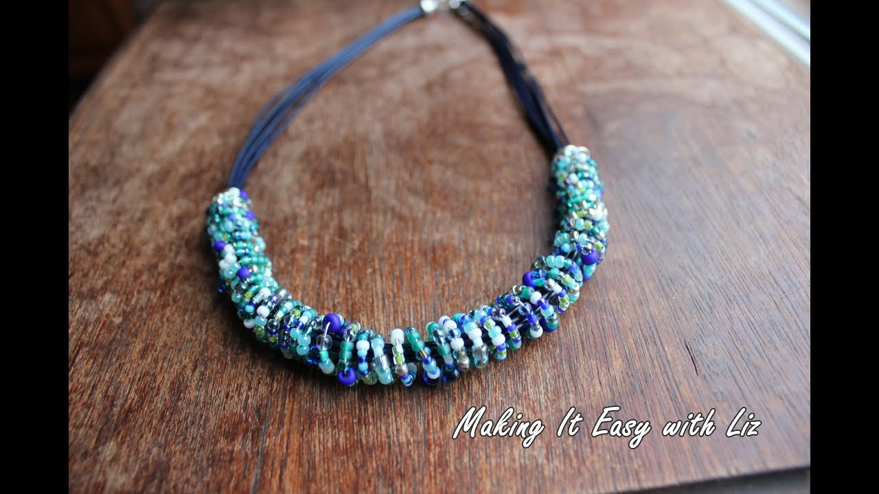 wire giveaway crochet bead grove crocheted and linden necklace