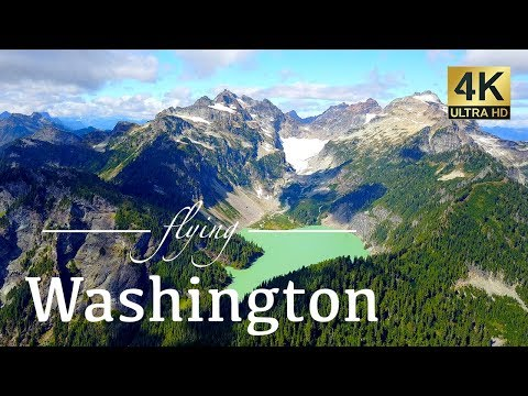 Washington State By Drone - 4K Travel Footage - Mount Baker, Seattle & More