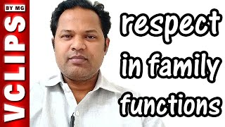 Respect In Family Functions | SOC | 10 | VClips By MG