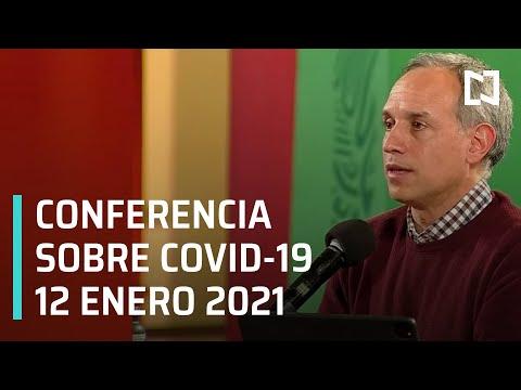 Conferencia Covid-19 en México - 12 enero 2021