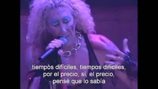 Twisted Sister - The Price (Subtítulos español)