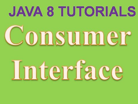 Consumer Interface in Java 8