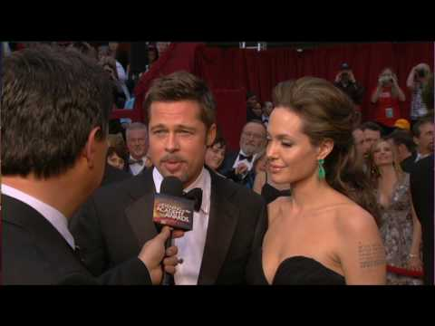 HD Brad Pitt Angeline Jolie Kate Winslet Oscars 2009 Red Carpet