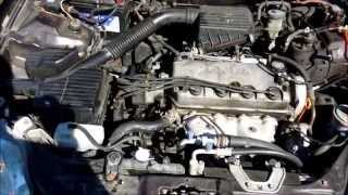 how to do a radiator flush and replace thermostat honda civic 2000