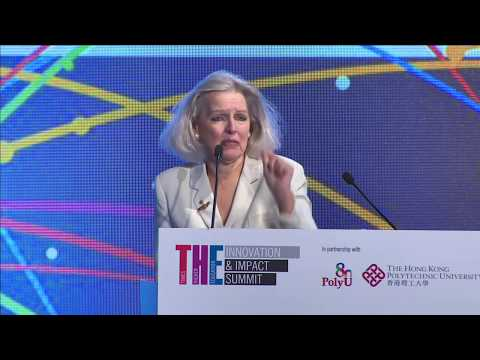 Dr Candace Johnson at THE Innovation and Impact Summit co-hosted by PolyU & Times Higher Education