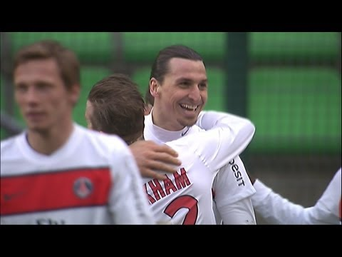 Beckham assist for Ibrahimovic (90' +3) - Stade Rennais FC - Paris Saint-Germain (0-2) / 2012-13
