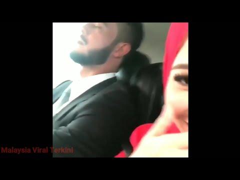 Sweet Sangat! Farah Nabilah Usik Manja Zul Arifin Sedang Nyenyak Tidur Dalam Kereta!!