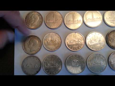 Canada Silver Dollars from 1900's Constitutional Silver Coin