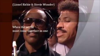 We Are The World -  USA for Africa -  Lyrics Full HD