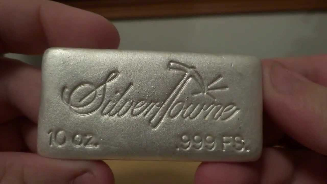 Silvertowne Unboxing 10 Oz Poured Bar Youtube