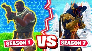 Fortnite: SEASON 1 vs. SEASON 7 CHALLENGE Modus!