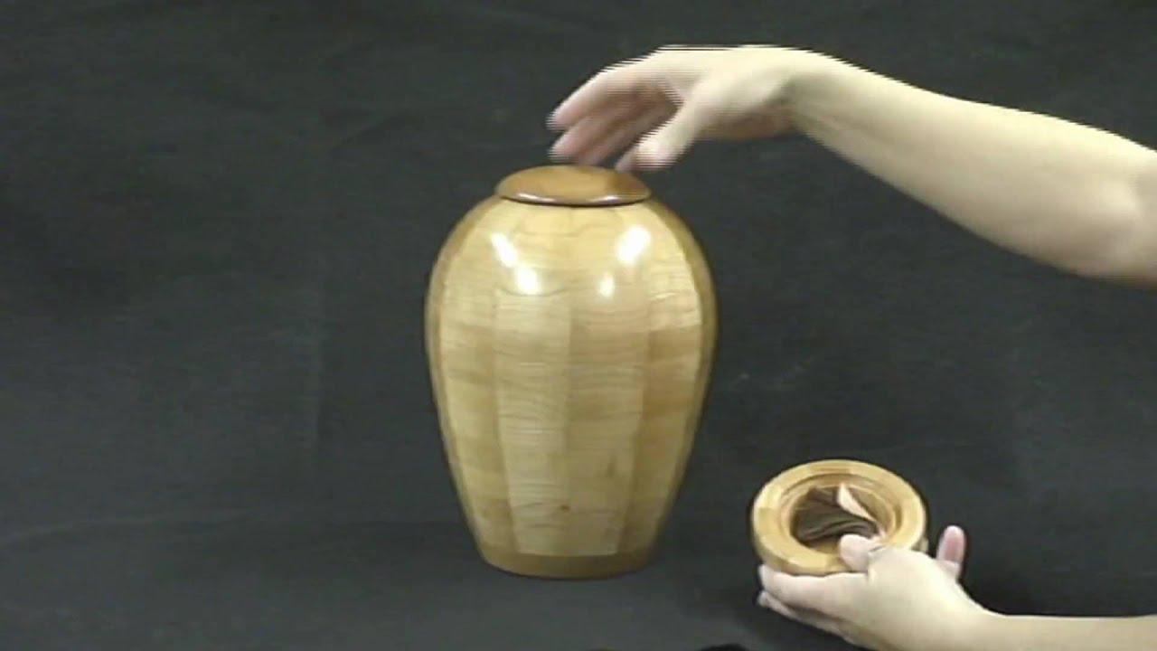 how to make woodcutting urn